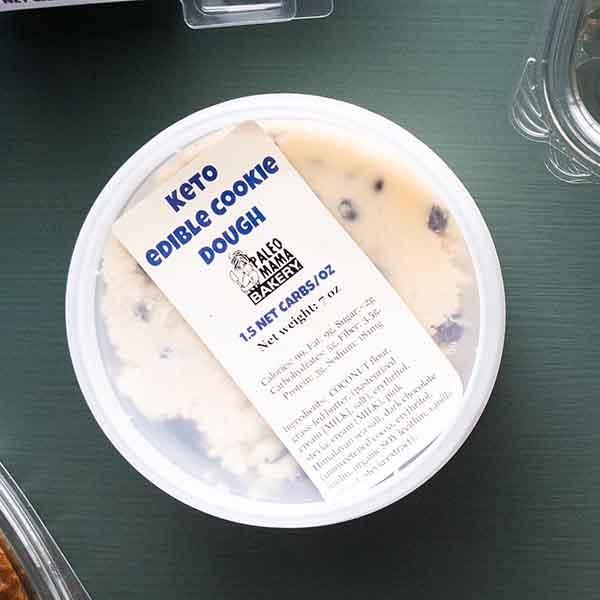 keto cookie dough at paleo mama bakery